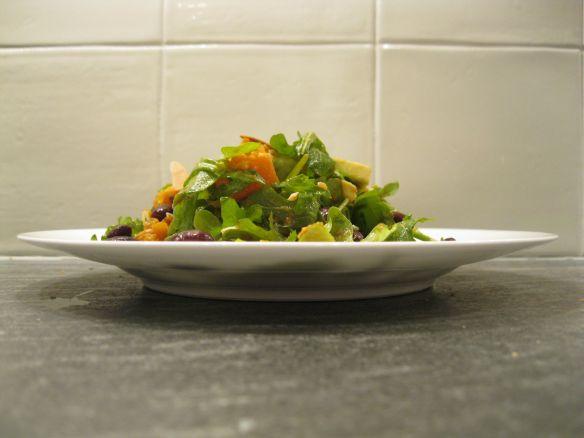 arugula salad side view